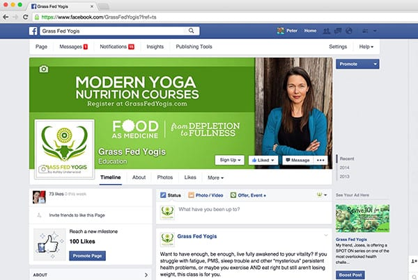 Grass Fed Yogis Facebook Page