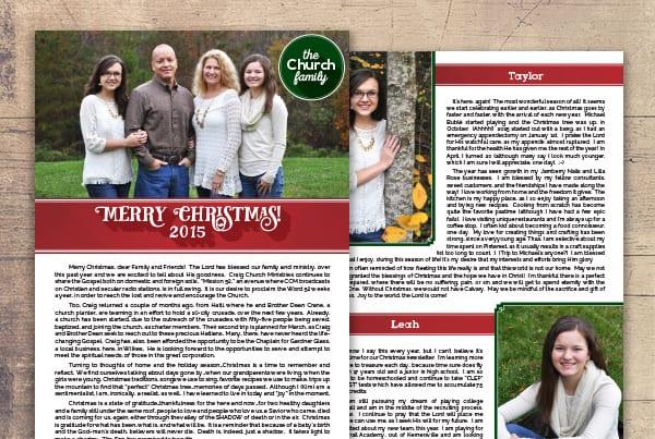 Church Family Christmas Newsletter