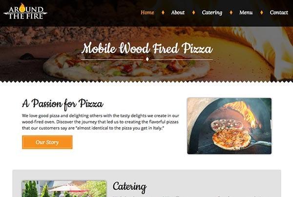Around the Fire Pizza Website