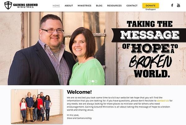 Gaining Ground Ministries Website