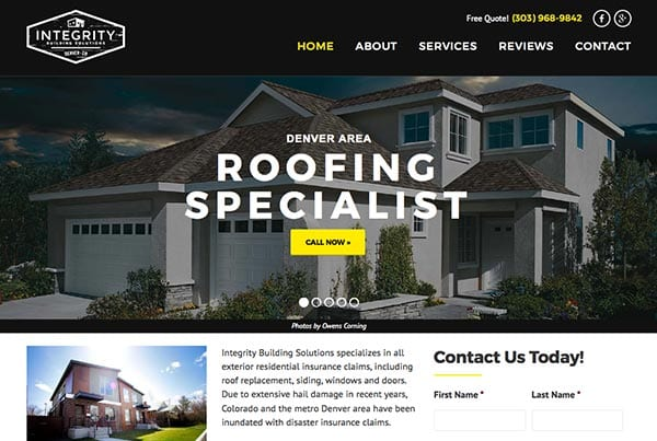 Integrity Building Solutions Website Redesign