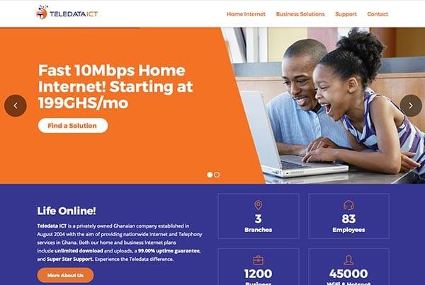 Teledata ICT Website